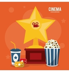Pop corn soda movie film cinema icon vector