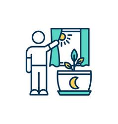 proper lighting rgb color icon vector image