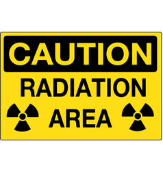 radiation area caution sign eps10 vector image