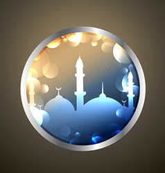 ramadan kareem label vector image