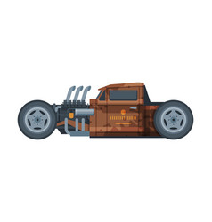 retro style brown car old racing sports vector image