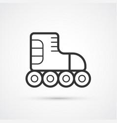 roller skate line black icon vector image