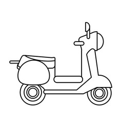 Scooter transport vehicle image vector