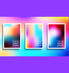 set a colorful gradient for background flyer vector image