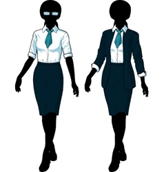 Silhouette Businesswoman in elegant formal wear vector