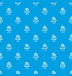 Sleepwear pattern seamless blue vector