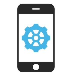 Smartphone Options Gear Eps Icon vector image