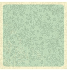 snowflakes grunge background vector image