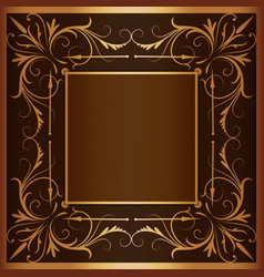 square frame with elegant ornament vector image