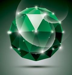 Stylish shiny emerald effect eps10 Gala 3 vector