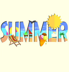 summer card theme vector image