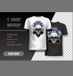 T-shirt template fully editable with route 66 vector