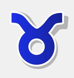 Taurus sign new year bluish vector