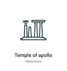 Temple apollo outline icon thin line black vector