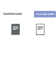 ticket icon fill and line flat design ui vector image
