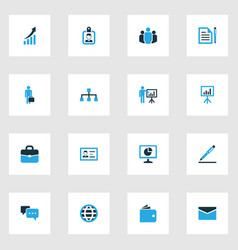 Trade colorful icons set collection of local area vector