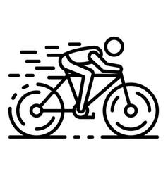 Triathlon bicycle icon outline style vector