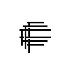 triple f monogram fff letter hipster lettermark vector image