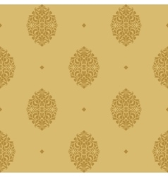 Vintage seamless background baroque vector image