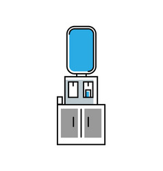 water cooler dispenser icon in linear style vector image