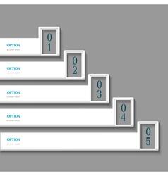 White Design template vector image