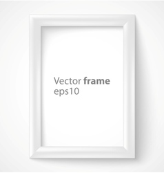 White rectangular 3d photo frame with shadow vector