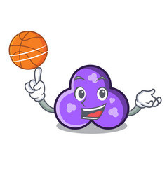 with basketball trefoil character cartoon style vector image
