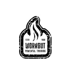 workout club emblem for t-shirt sticker and tag vector image