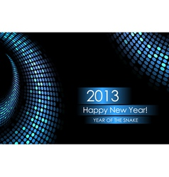 2013 water snake card vector image vector image