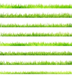 8 item set small Grass EPS 10 vector image