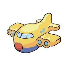 a cute cartoon airplane vector image