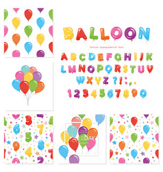 balloon big set for birthday and holidays design vector image