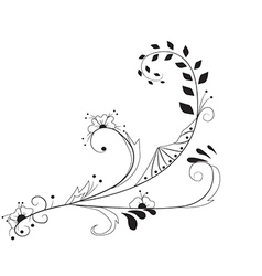 Floral background silhouette vector image vector image