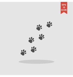 footprints of dogs turn right - vector image