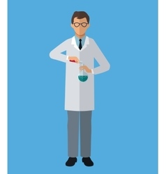 medical scientist experiment laboratory vector image