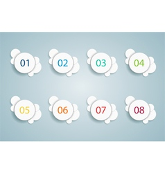Numbered bullet point bubble infographics 1 vector