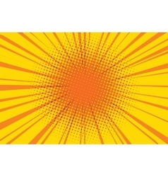 The sun comic book retro pop art background vector image
