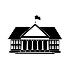 black house shape vector image