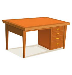 cartoon office desk vector image vector image