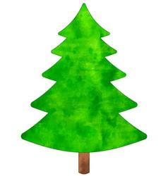 Christmas watercolor tree vector image
