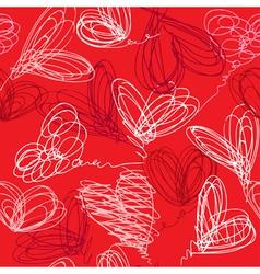 hearts handdrawn seamless 380 vector image vector image