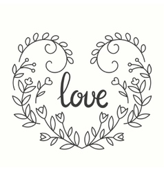 Love Typographics Design vector image vector image