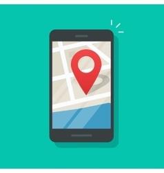 Mobile phone geo location smartphone gps vector image