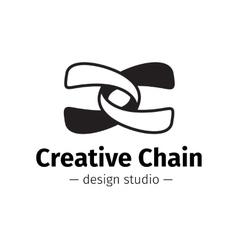 Modern creative abstract logo black and vector