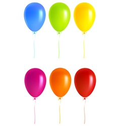 Set Colorful balloons vector image vector image