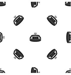 stadium pattern seamless black vector image vector image