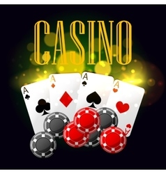 Casino poker poster design vector image