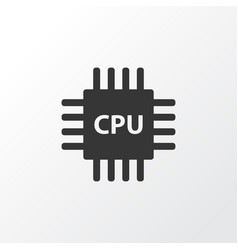 cpu icon symbol premium quality isolated vector image