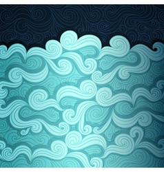 The Sea Banner vector image