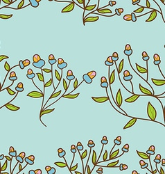 Abstract Flower bud pattern Seamless texture vector image